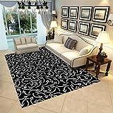 Alfombra Azul Marino Negro alfombras dormitorio matrimonio Flecha blanca simple pila corta buen cuidado y cómoda sala de estar dormitorio salón decoración alfombra alfombras habitacion matrimonio 40X6