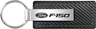 Au-Tomotive Gold, INC. Ford F-150 Black Carbon Fiber Texture Leather Key Chain
