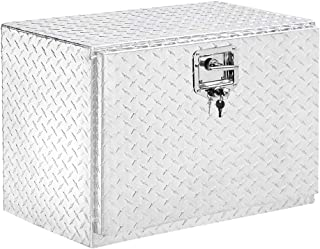 TUFFIOM 24 inch Heavy Duty Aluminum Truck Tool Box, Trailer Pickup ATV Truck Bed Storage Toolboxes w/Lock & 2 Keys (24 inch)