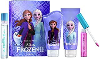 Avon Disney Frozen II Gift Set Consisting of 4 Pieces -Spray (15ml) , Hand Cream (50ml), Hair Gel (50ml), Lip Gloss (7ml)