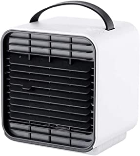 Jieer Enfriador de Aire, 3 en 1 Enfriador de Aire Portátil 3S Refrigeración Rápida 180Ml Tanque de Agua 3 Velocidades USB Aire Acondicionado Ventilador Nano Spray para Habitación, Oficina, Cocina-C