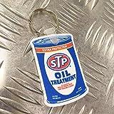 STP ラバー キーホルダー キーリング OIL CAN オイル缶 アメリカン雑貨
