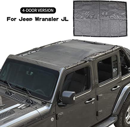 Amazon com: jeep wrangler jl sun shade