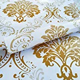 WOW Interiors Natural Pink Flower Floral Peel and Stick Self Adhesive Wallpaper Easily
