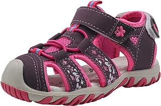 Apakowa Bébé Petites Filles d'été fermé Toe Beach Sandals Athlétique en Plein air à séchage Rapide Gladiator Sandales Sport…