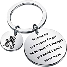 BAUNA Pooh and Tigger Gift BFF Keychain Promise Me You'll Never Forget Me Because IF I Thought You Would I Would Never Lea...