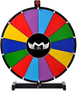 """MegaBrand Portable Carnival 18"""" Tabletop Spinning Prize Wheel 14 Clicker Slots with Color Dry Erase"""