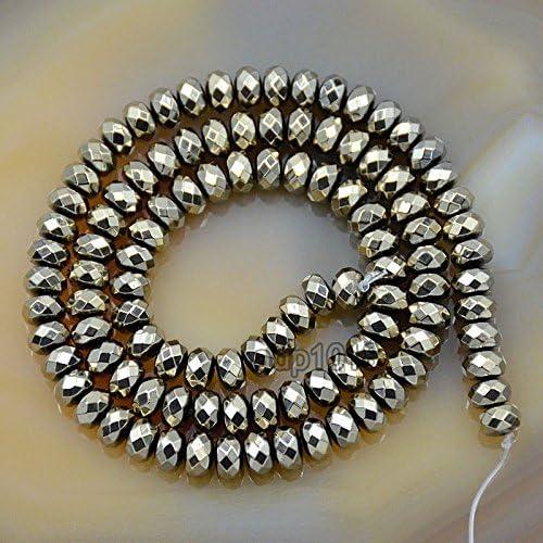 Hematite Rondelles 12x3mm 94pc stone beads Wire 39cm env