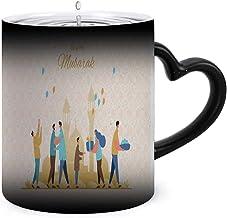 Eid al-Fitr greeting card - - ia,Color Changing Mug-Add Hot Liquid ,Funny Coffee Ceramics Mug-Creative Gift Choice Asia 11oz
