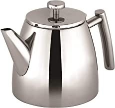 Avanti Modena Double Wall Tea Pot, Silver, 15137