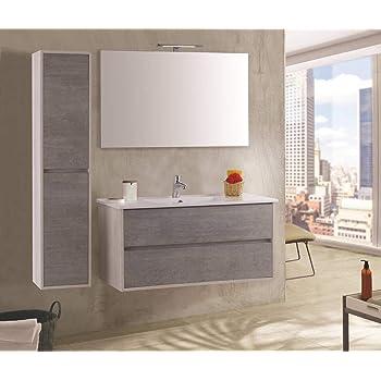 Tft Mobili Bagno Opinioni.Tft Mobile Bagno Sospeso 90 Cm Lavabo Specchio Lampada A Led E 2
