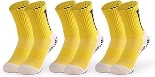 Walmeck-, Calcetines de fútbol Antideslizantes para Hombres Deportes Fútbol Calcetines de Tubo Alto