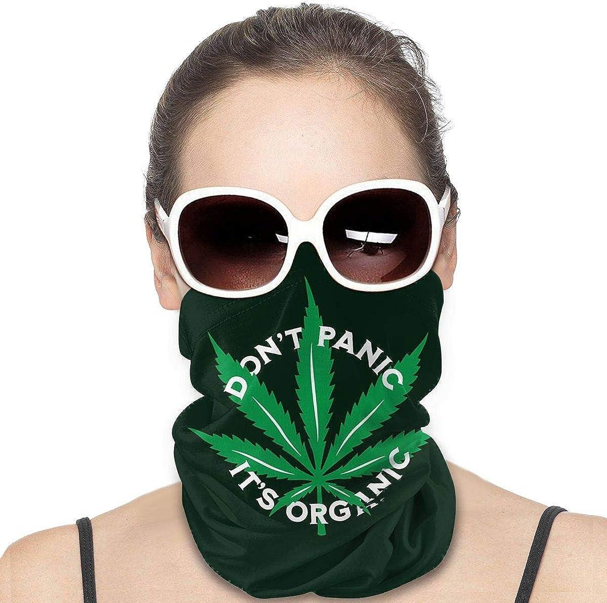 KiuLoam Women Bandanas Face Mask, Cannabis Marijuana Leaf with Quote Neck Gaiter Mask Headband for Men Face Scarf Dust, Outdoors, Sports