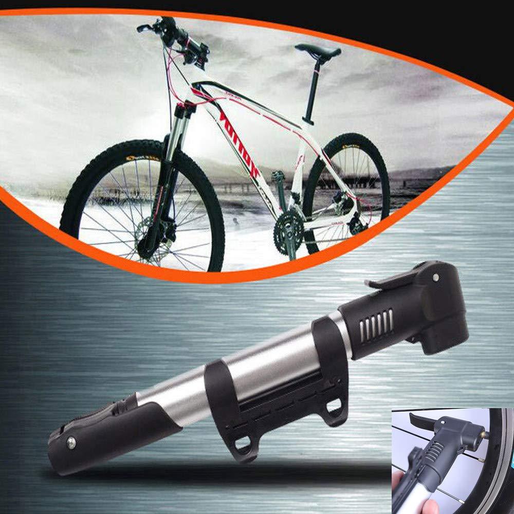 Mini bomba de bicicleta,Bomba de bicicleta con manómetro,Bomba de baloncesto portátil que ahorra mano de obra,Bomba de aire para neumáticos portátiles, compactos ...