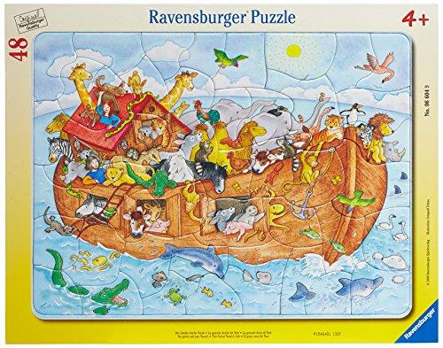 Ravensburger Kinderpuzzle 06604 - Die große Arche Noah - Rahmenpuzzle