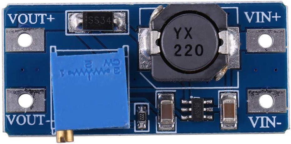DC-DC Voltage Step Up Converter Adjustable Boost Converter Power Supply Module 2A,Maximum 28V