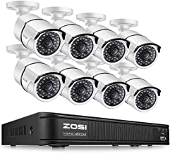 ZOSI 1080p HD-TVI Security Camera System,8 Channel 4-in-1 CCTV DVR Recorder and (8) 2.0MP 1920TVL Weatherproof Outdoor/Indoor Surveillance Cameras with IR Night Vision(No Hard Drive Included)