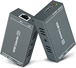 HDMI Extender,164 Ft Full HD Uncompressed Transmit,Up to 1080P@60Hz Over Single Ethernet..