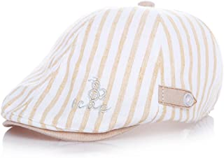 Moon Kitty Baby Boys Cotton newsboy Cap Pinstripe Hat Driving Hat Golf Cap For Baby