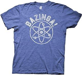 Ripple Junction Big Bang Theory Bazinga Collegiate with Linear Atom Adult T-Shirt