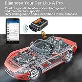WiseGoods Dispositivo de diagnóstico OBD2 WiFi OBD2, escáner de diagnóstico para iOS, iPhone y Android, herramienta de diagnóstico de coche, OBDII para coche, bus CAN, lector de código de interfaz