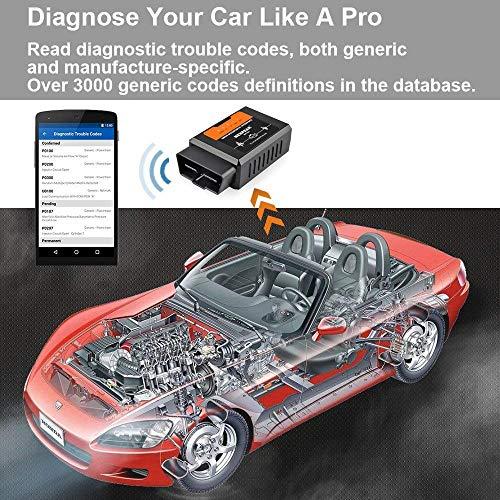 WiseGoods OBD2 - Dispositivo de diagnóstico WiFi OBD2 para iOS iPhone Android, autodiagnóstico, herramienta de escáner, OBDII para coche, coche, coche, CAN Bus, lectura de código de interfaz