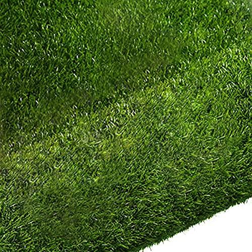 Quesuc Tappeti in Erba Sintetica Balconi e Terrazze da Esterno Finta Erba Tappeto Tappeto di Erba   Prato Sintetico Permeabile all'acqua con Protezione UV   Altezza 10 mm (100x100 cm)