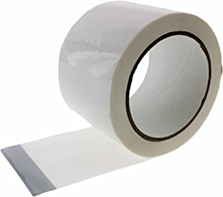 "3"" in x 60 yd White House Wrap Tape Sheathing Building Wrapping Housewrap Sheath Tape Insulation Seaming Plastic Sheets FOR Sealing TYVEK in Construction or Moisture Dust barrier Asbestos Abatement"