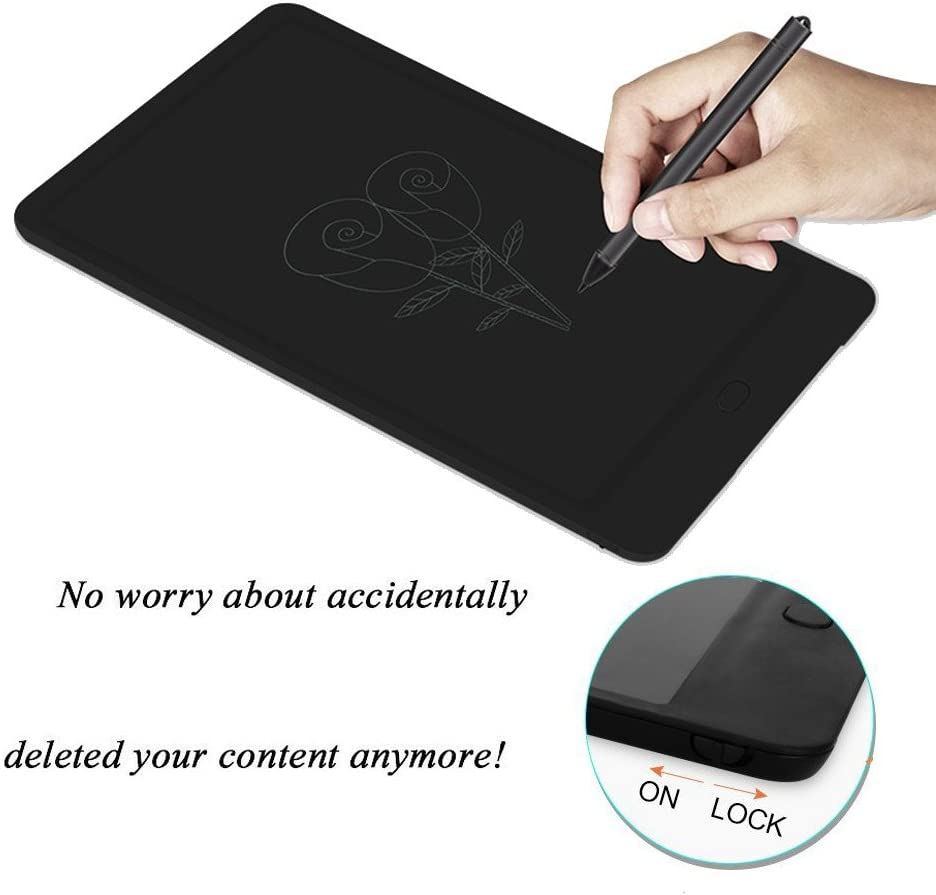 LCD Drawing Tablet Electronic Graphic Board for Kids,AMZSTAR 10 Inch Screen Lock Electronic Writing Tablet Paperless Handwriting Notepad,for Kids Adults at Home Office Christmas Gift 10//Black