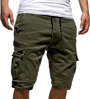 4e6c497432ac Tomwell Uomo Pantaloni Corti Bermuda Cargo Pantaloncini Uomo Cotone Lavoro  Pantaloni Tasconi con Elastico Pantofole Estive