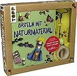 Kreativset Basteln mit Naturmaterialien: Buch mit Bastelideen und Kastanienbohrer