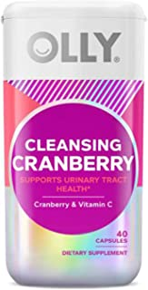 Olly Cleansing Cranberry Supplements 40 Capsules! Formulated with Cranberry and Vitamin C! Support A Healthy Urinary Tract...