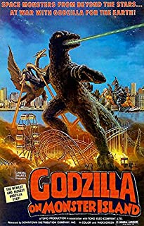 Godzilla On Monster Island - 1972 - Movie Poster Magnet