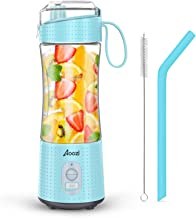 Portable Blender, Personal Size Blender Smoothies and Shakes, Mini Blender 4000mAh USB Rechargeable with Six Blades, Handh...