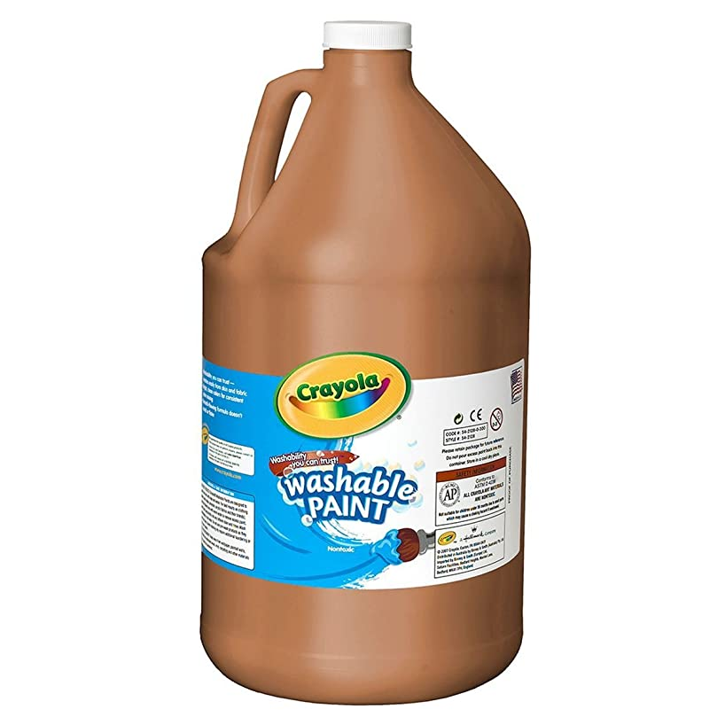 Crayola 54-2128-007 Washable Paint, Gallon Size, Brown, 1 Unit