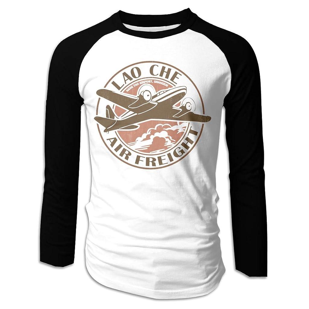 Men's Lao Che Air Freight T-Shirts Long Sleeve Shirts Black