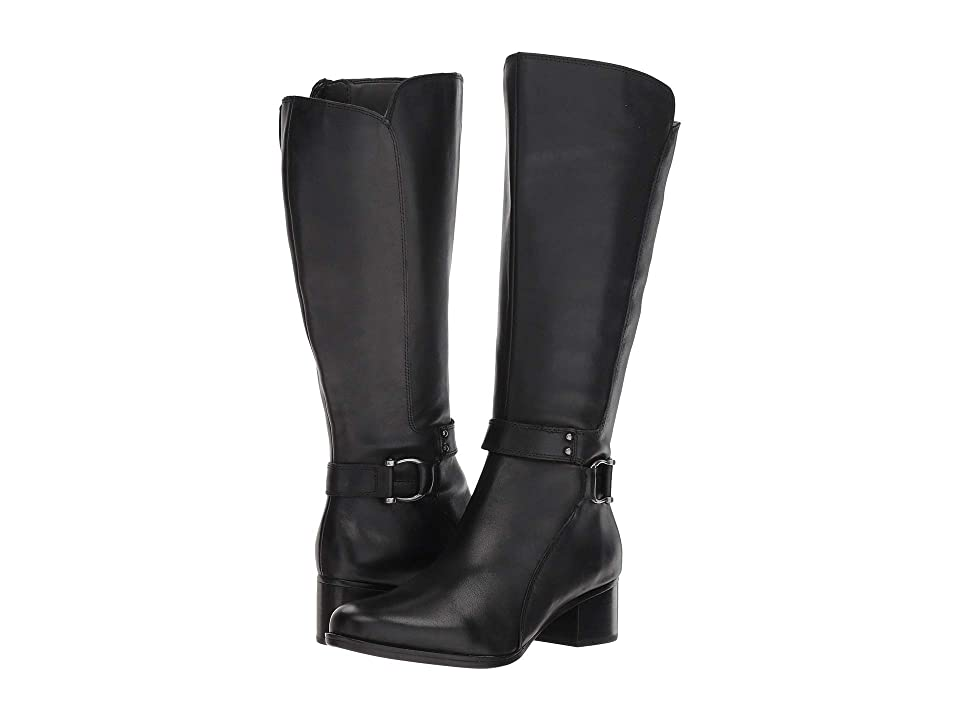 Naturalizer Dane Wide Calf (Black Leather) Women