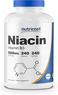 Sponsored Ad - Nutricost Niacin (Vitamin B3) 500mg, 240 Capsules - with Flushing, Non-GMO, Gluten Free
