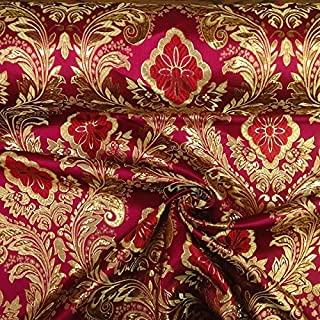 Metallic Floral Brocade Fabric 60