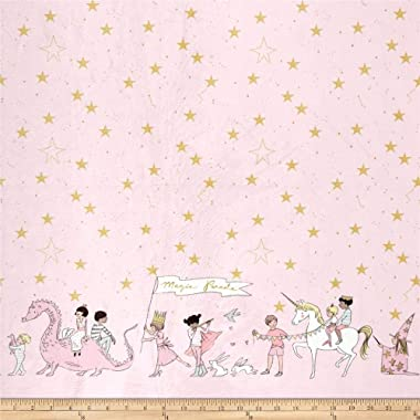 Michael Miller Minky Sarah Jane Magical Parade, Yard, Blossom