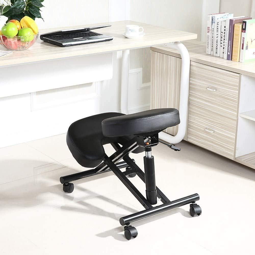 ZLJ Chaise à Genoux Ergonomique pour Tabouret étudiant orthopédique, Chaise à Genoux réglable en Hauteur, adaptée au Bureau et à la Maison, Gris Gray