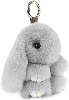 rabbit tail keychain