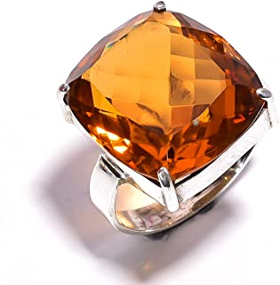 mughal gems /& jewellery 925 Sterling Silver Ring Natural Tiger Eye Gemstone Fine Jewelry Ring for Women /& Girls Size 8.25 U.S