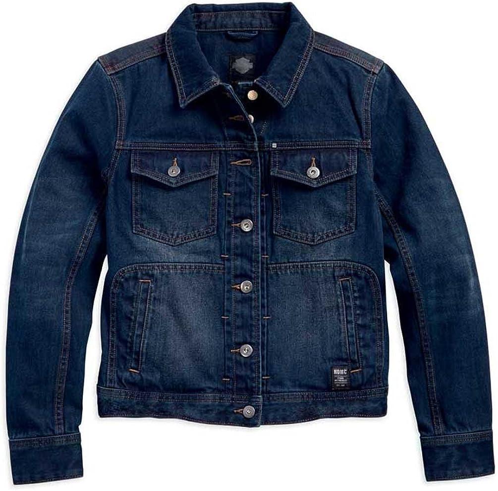 Harley-Davidson Women's Dark Washed Denim Casual Jacket, Slim Fit 96082-18VW