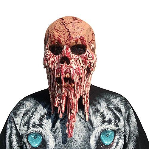 thematys Höllenbestie Monster Dämon Horror grusel Maske - perfekt für Fasching, Karneval & Halloween - Kostüm für Erwachsene - Latex, Unisex Einheitsgröße
