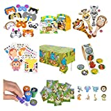 Zoo Animal & Safari Party Supplies and Favors: 12 Treat Boxes, 12...