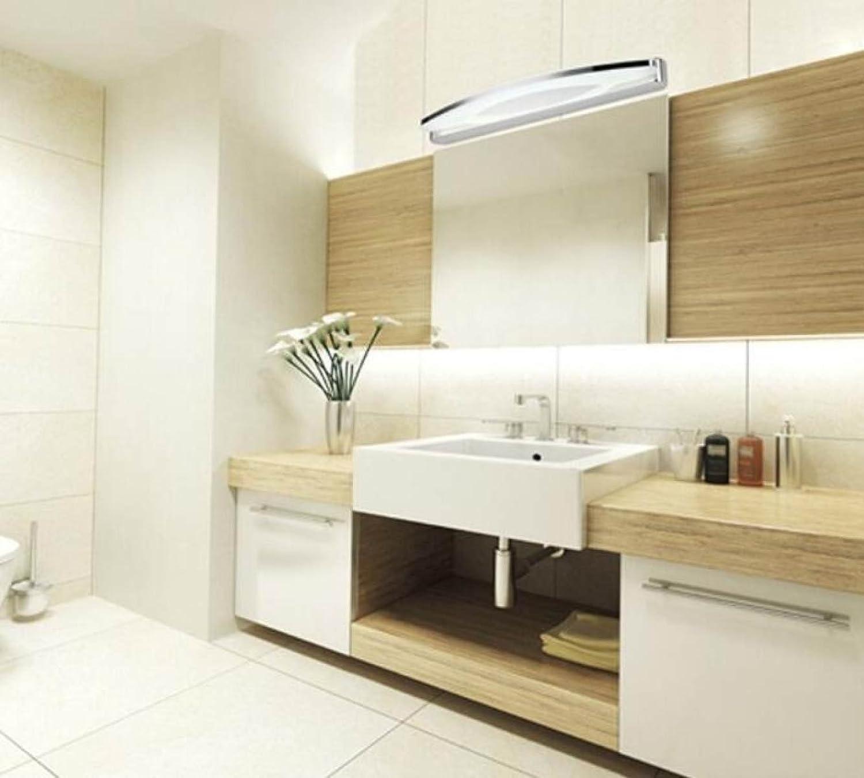 ASDF LED-Spiegelfrontlicht Mode Einfaches Badezimmer Bad Edelstahl Spiegel Licht Anti-Fog Feuchtigkeit Make-up Lampe Wandleuchte 540  50mm [Energieklasse A +++]