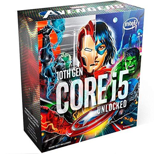 Procesador Intel Core i5-10600K 6 núcleos con 4,1 GHz (hasta 4,8 GHz con Turbo Boost 3.0, procesador LGA1200 125 W (99A5FN)