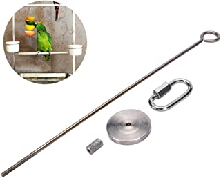 Hypeety Bird Fruit Vegetable Holder Stainless Steel Vegetable Skewer Hanging Food Feed Tool for Parrot Budgies Parakeet Cockatiels Conure Lovebirds Finch Canary Pigeon Hamster Rat Gerbil Cage