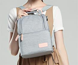 Fashion and High Quality Waterproof Milk Storage Bag Double-Shoulder Lunch Bag(Gray)